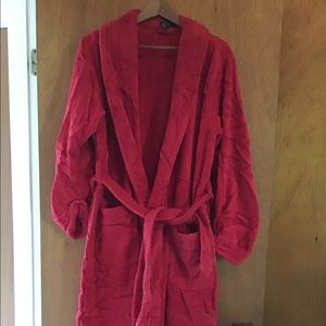 Red terry cloth robe